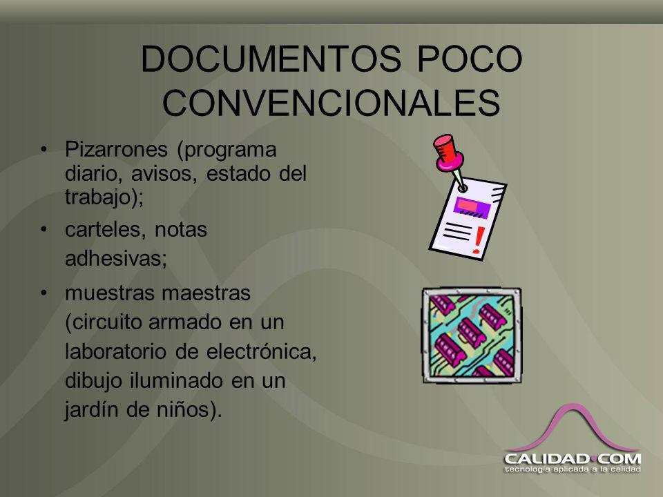 DOCUMENTOS POCO CONVENCIONALES