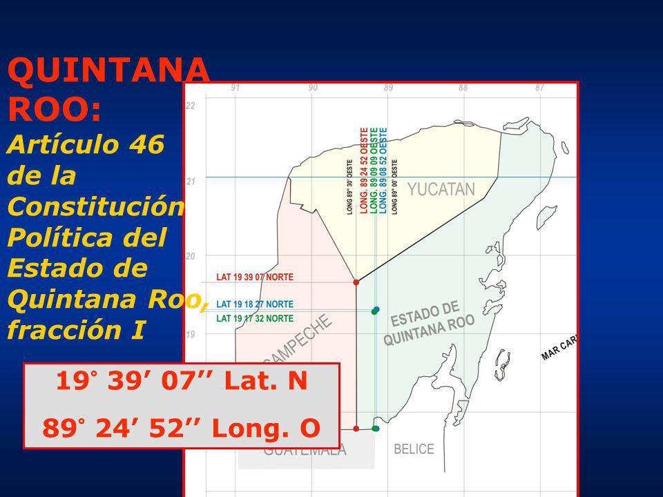 QUINTANA ROO: Artículo 46 de la Constitución Política del Estado de Quintana Roo, fracción I