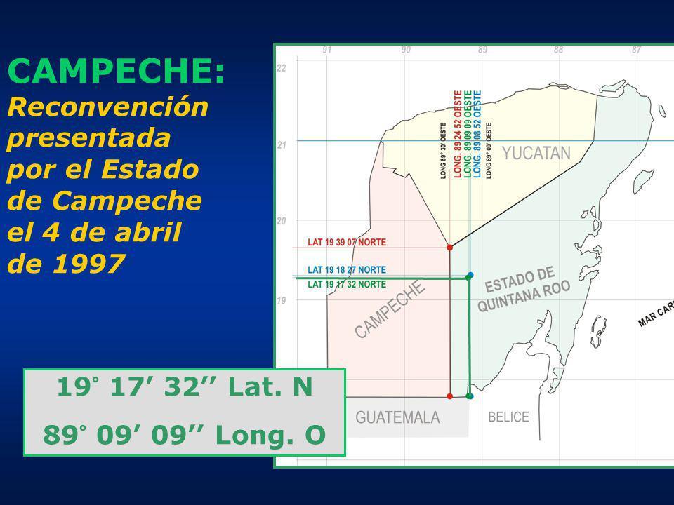 CAMPECHE: Reconvención presentada por el Estado de Campeche el 4 de abril de 1997
