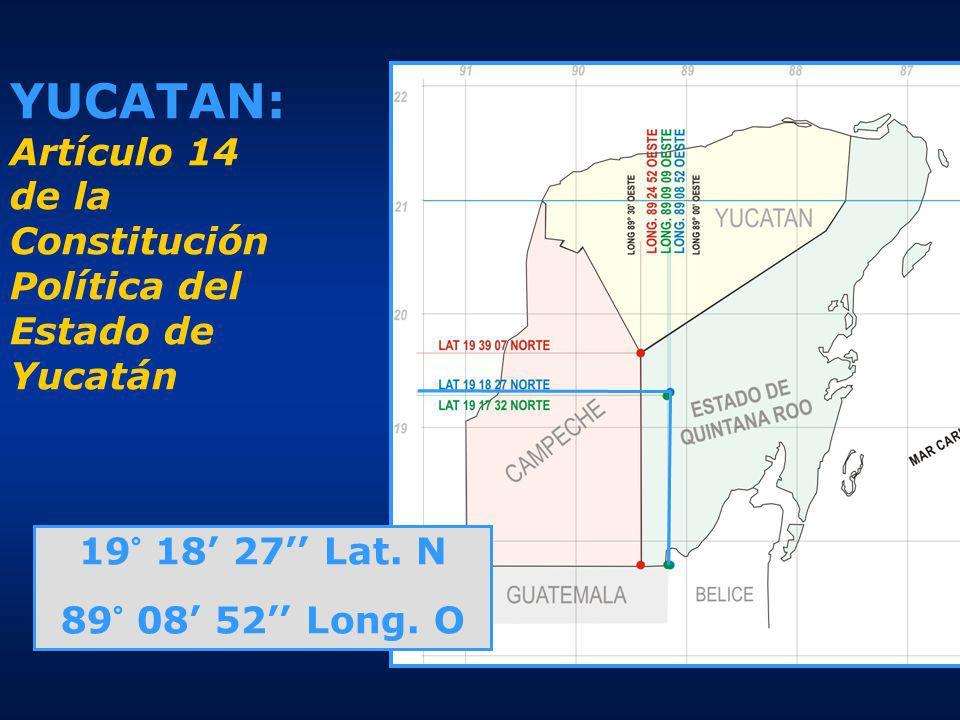 YUCATAN: Artículo 14 de la Constitución Política del Estado de Yucatán