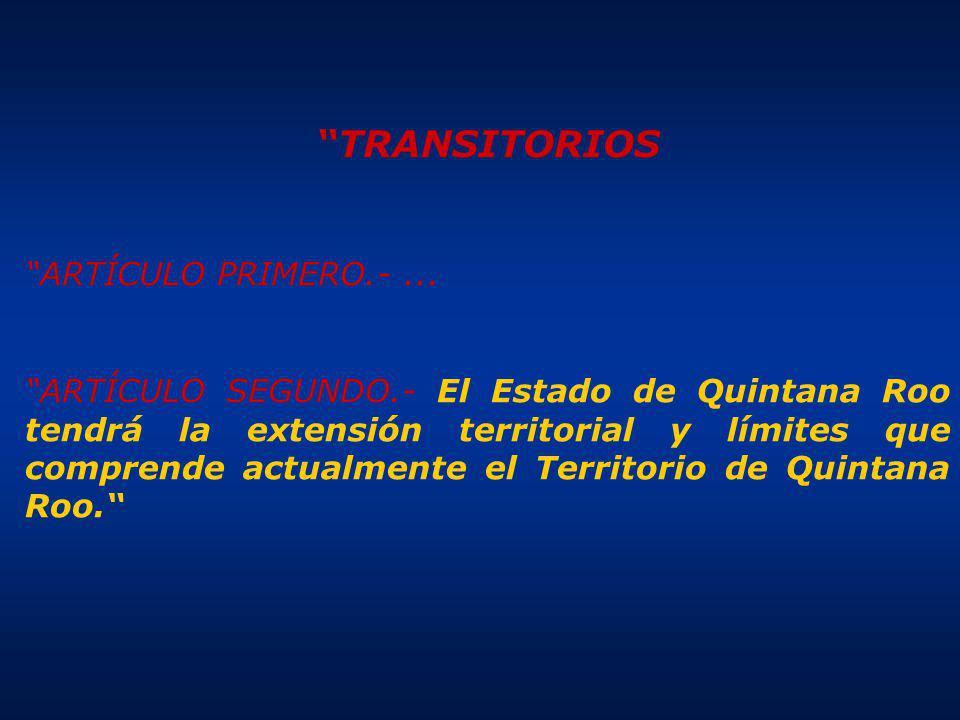 TRANSITORIOS ARTÍCULO PRIMERO.- ...