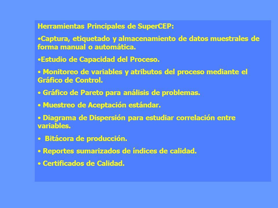 Herramientas Principales de SuperCEP: