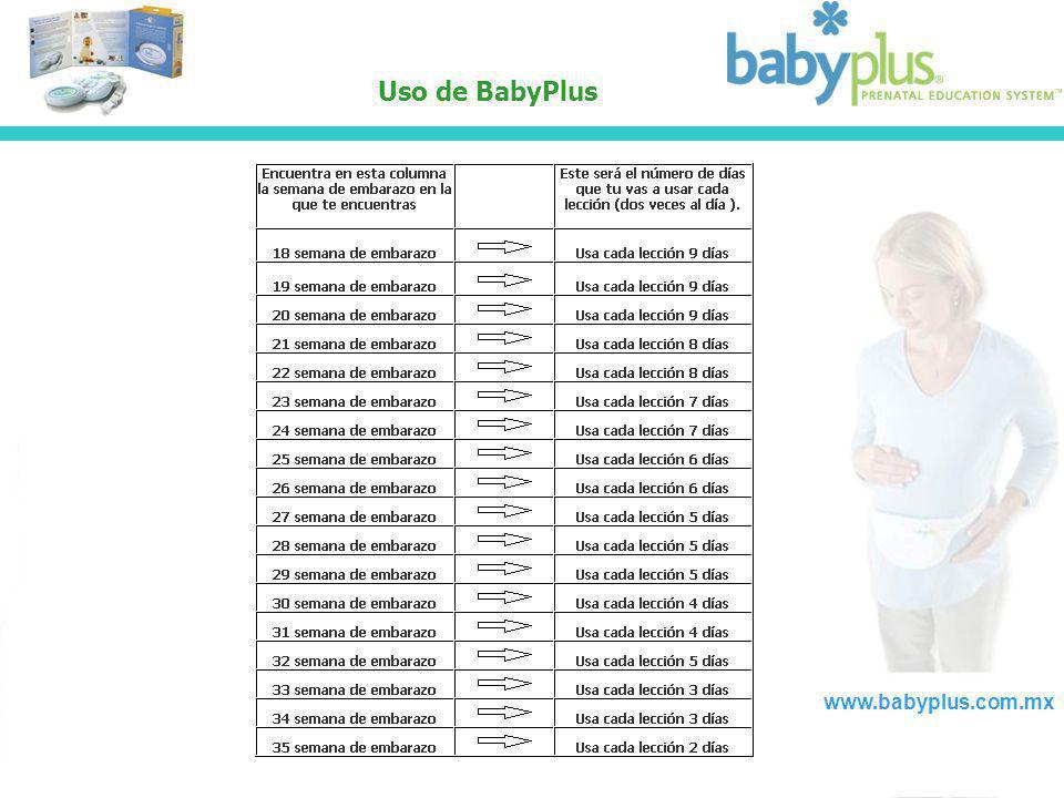 Uso de BabyPlus www.babyplus.com.mx
