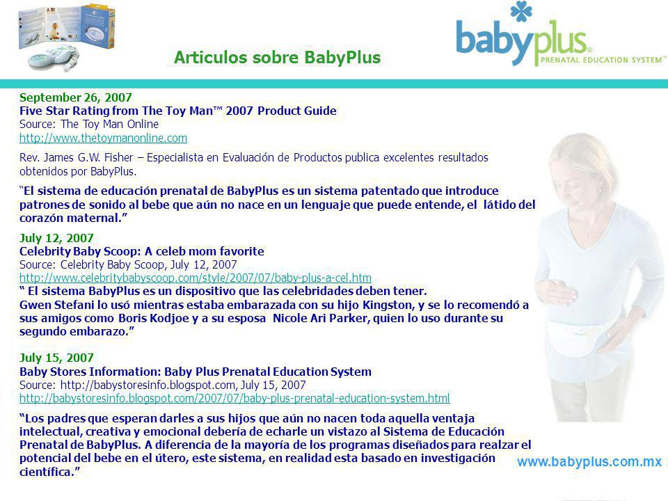 Articulos sobre BabyPlus