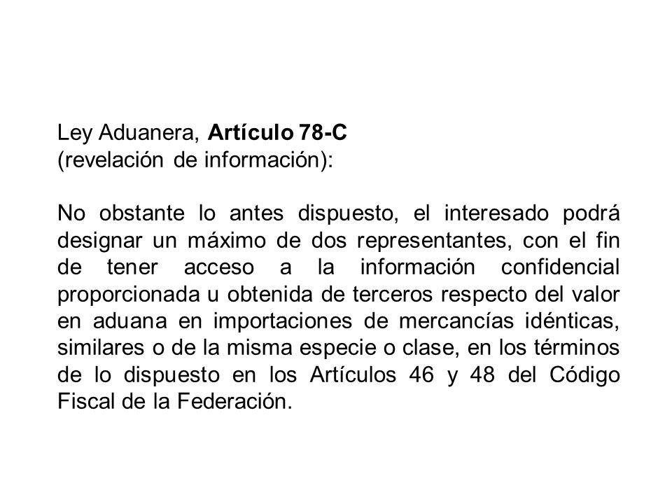 Ley Aduanera, Artículo 78-C