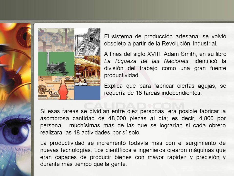 El sistema de producción artesanal se volvió obsoleto a partir de la Revolución Industrial.