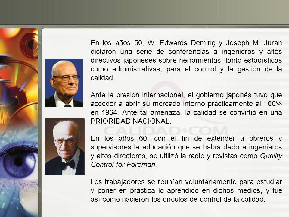 En los años 50, W. Edwards Deming y Joseph M