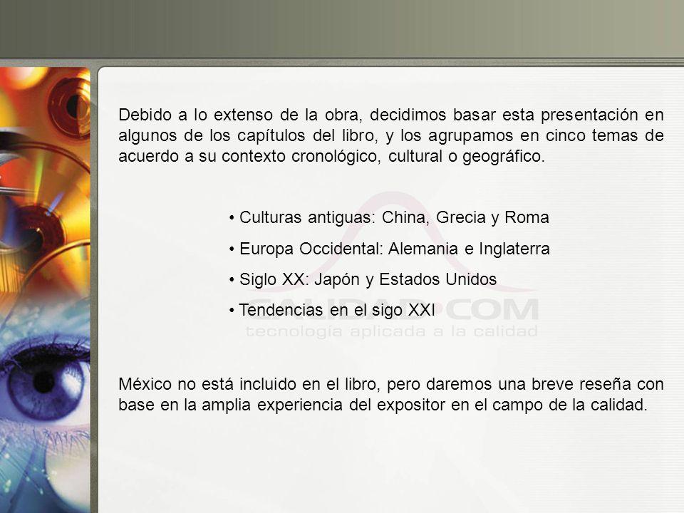 Debido a lo extenso de la obra, decidimos basar esta presentación en algunos de los capítulos del libro, y los agrupamos en cinco temas de acuerdo a su contexto cronológico, cultural o geográfico.