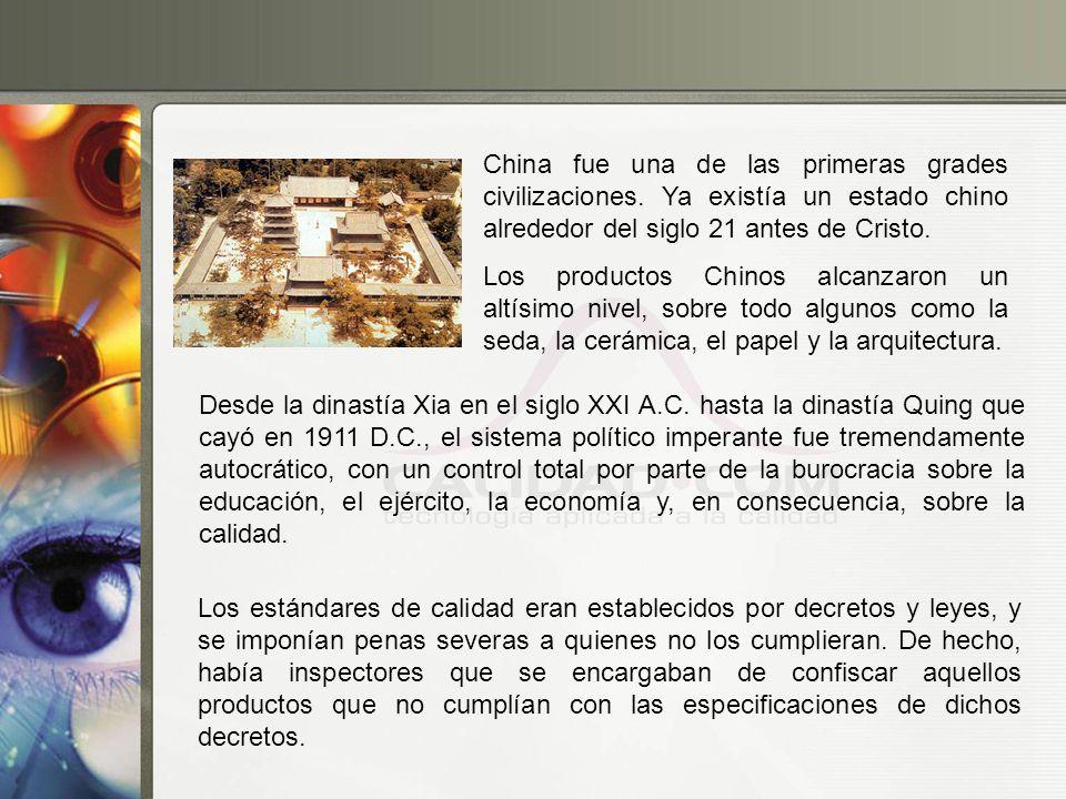 China fue una de las primeras grades civilizaciones