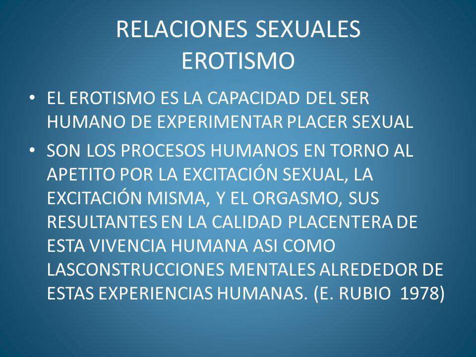 RELACIONES SEXUALES EROTISMO