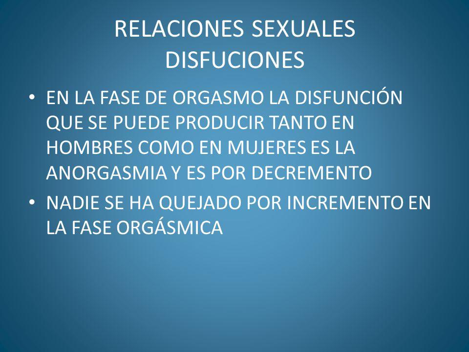 RELACIONES SEXUALES DISFUCIONES