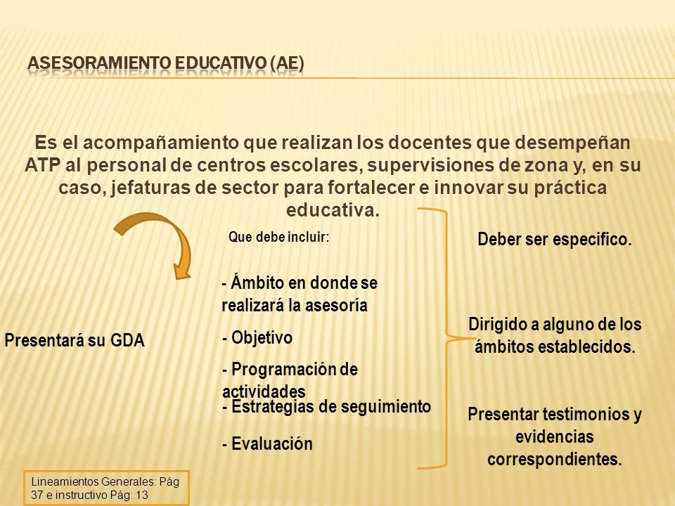 Asesoramiento Educativo (AE)