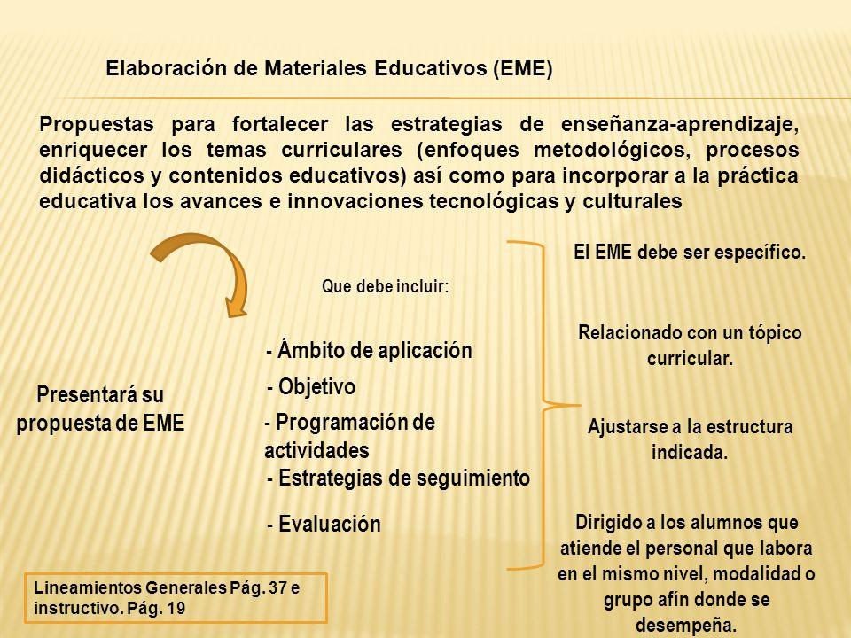 Presentará su propuesta de EME