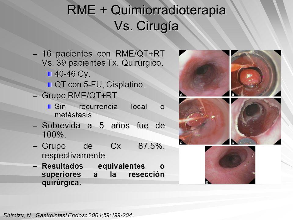 RME + Quimiorradioterapia Vs. Cirugía