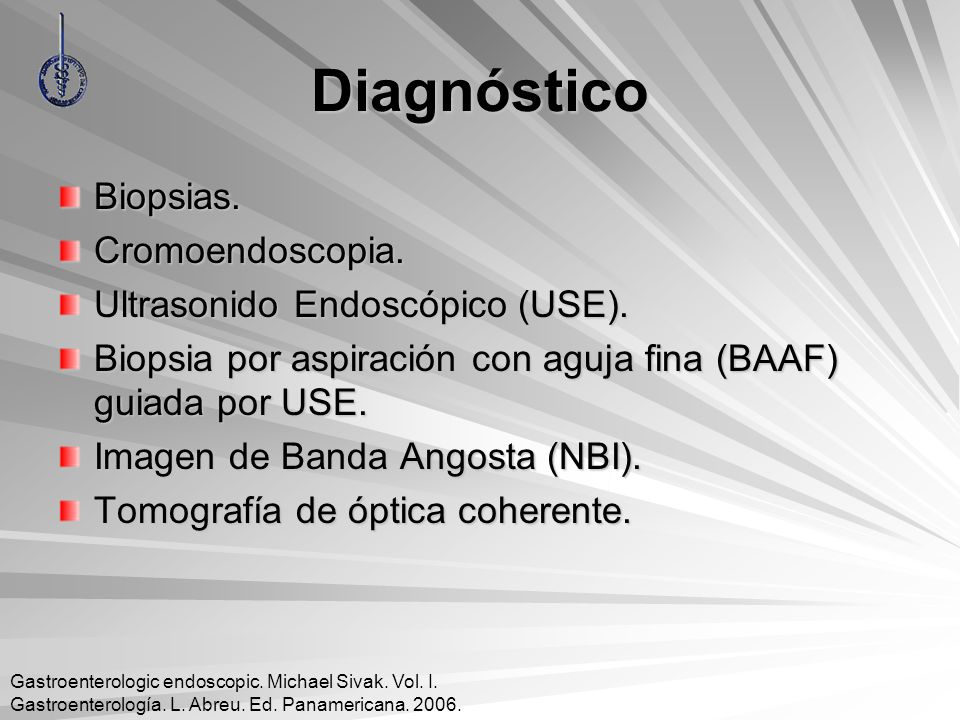 Diagnóstico Biopsias. Cromoendoscopia. Ultrasonido Endoscópico (USE).