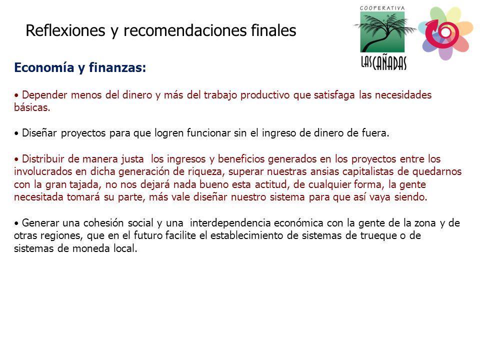 Economía y finanzas: Reflexiones y recomendaciones finales