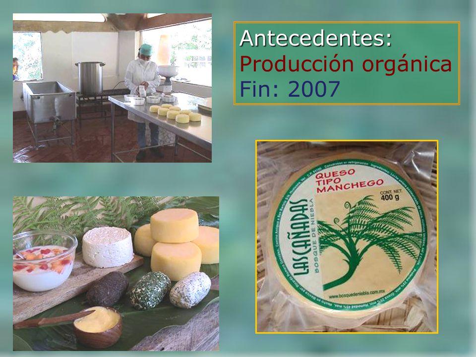 Antecedentes: Producción orgánica Fin: 2007
