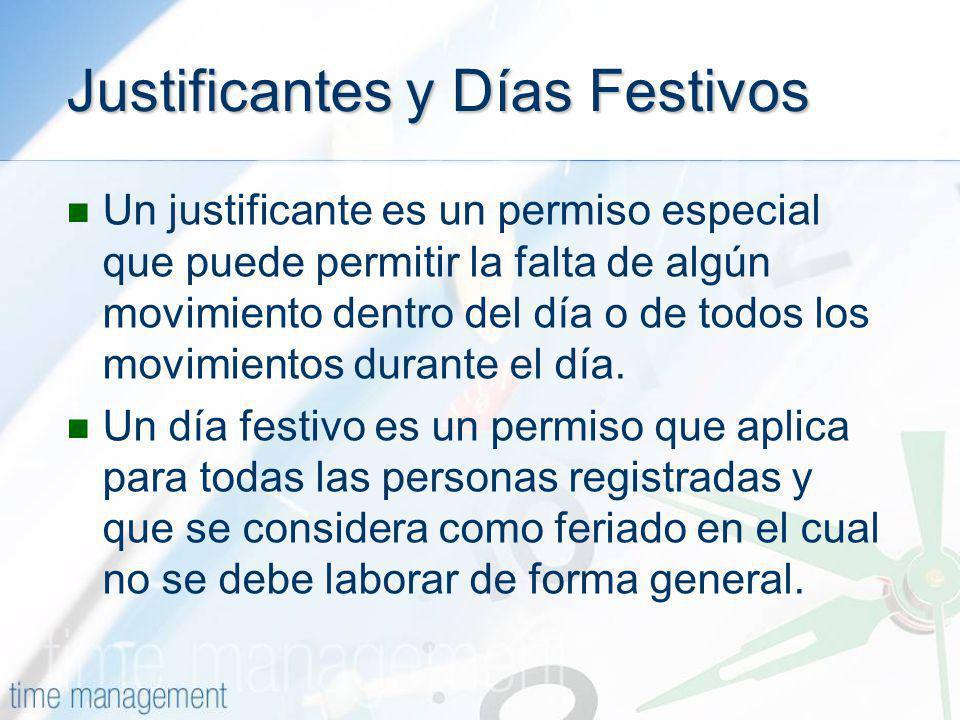 Justificantes y Días Festivos