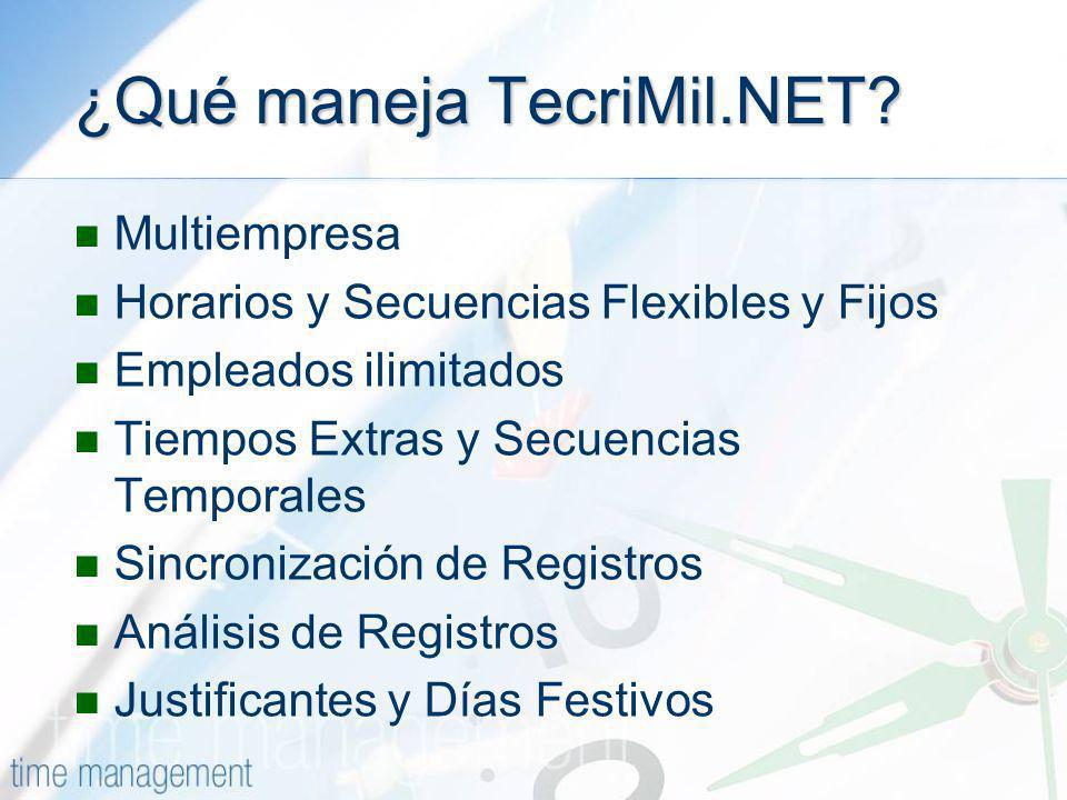¿Qué maneja TecriMil.NET