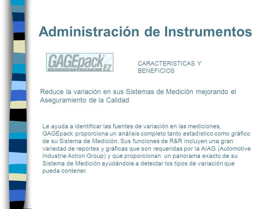Administración de Instrumentos