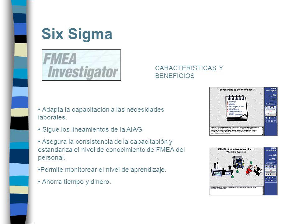 Six Sigma CARACTERISTICAS Y BENEFICIOS