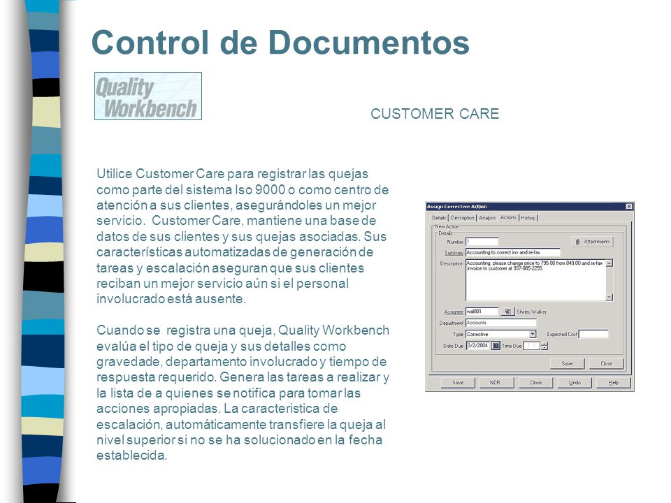 Control de Documentos CUSTOMER CARE