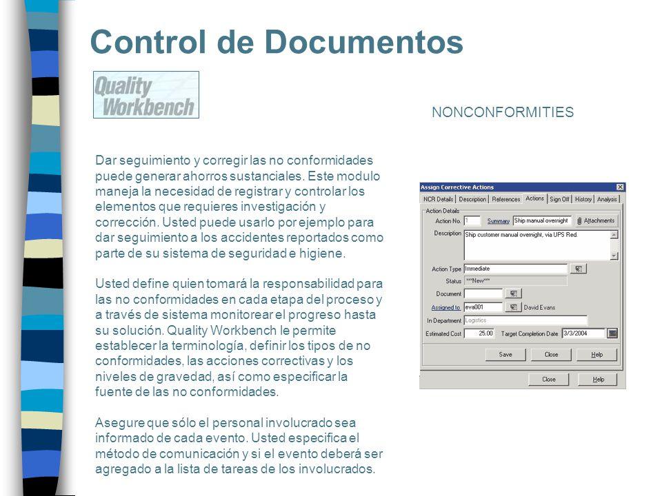 Control de Documentos NONCONFORMITIES