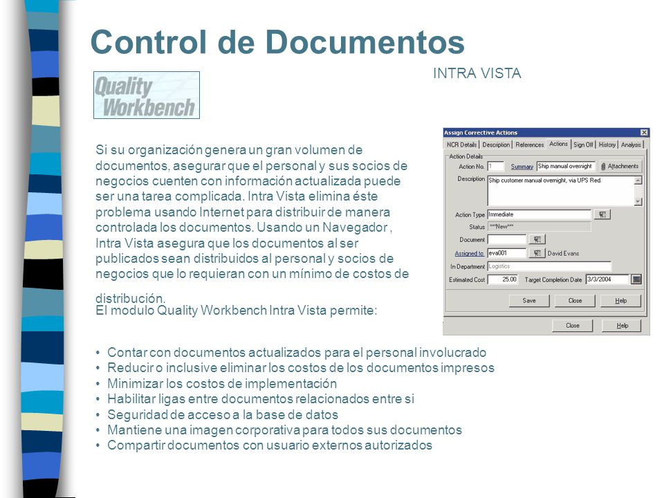 Control de Documentos INTRA VISTA