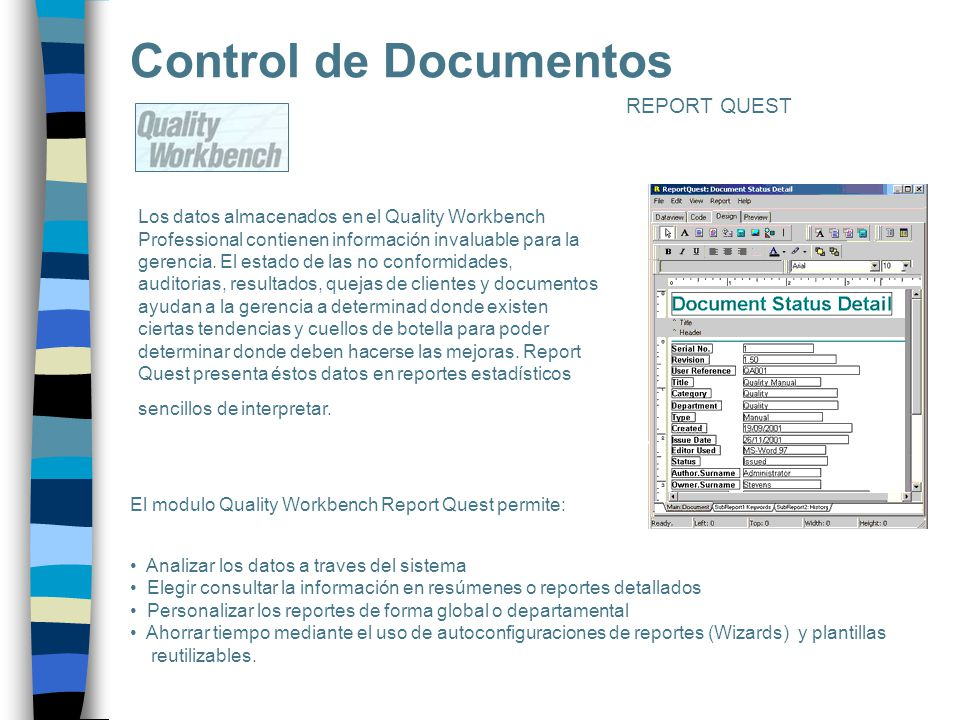 Control de Documentos REPORT QUEST
