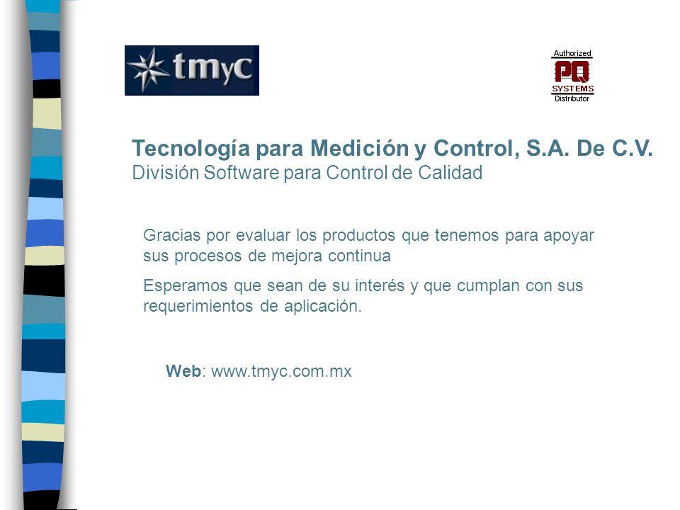 Tecnología para Medición y Control, S.A. De C.V.