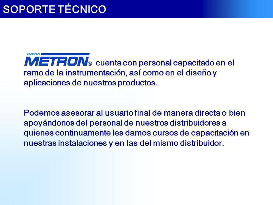 SOPORTE TÉCNICO cuenta con personal capacitado en el ramo de la instrumentación, así como en el diseño y aplicaciones de nuestros productos.