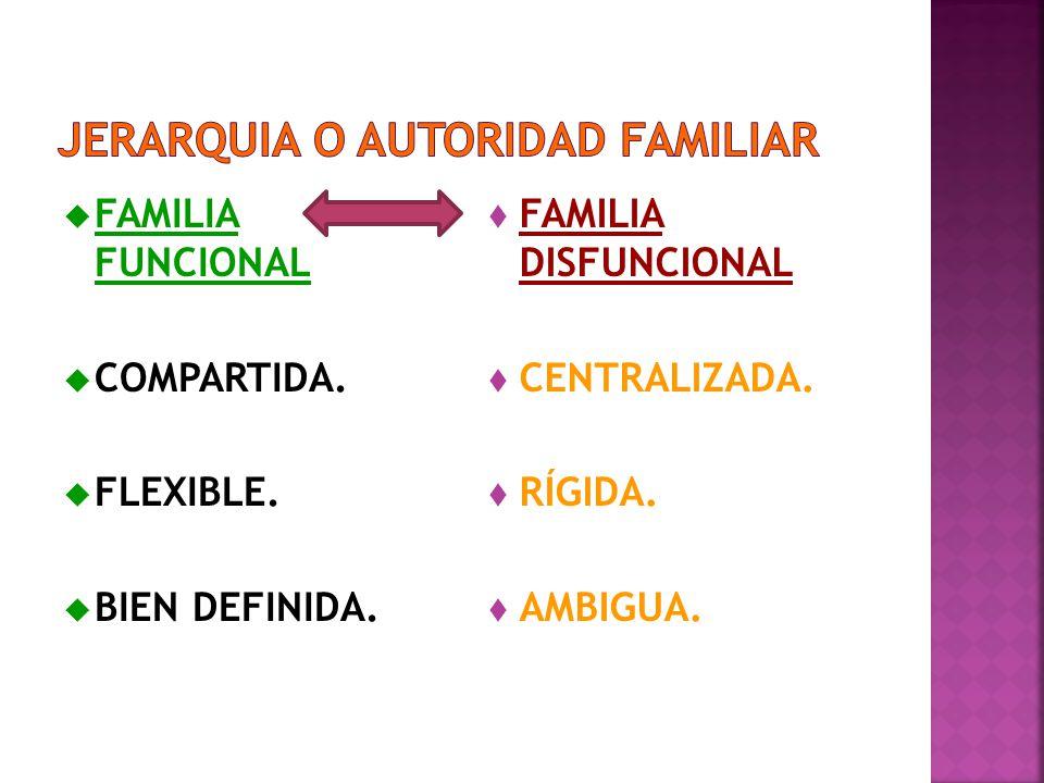 JERARQUIA O AUTORIDAD FAMILIAR