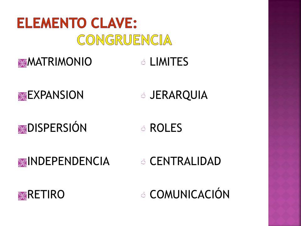 ELEMENTO CLAVE: CONGRUENCIA