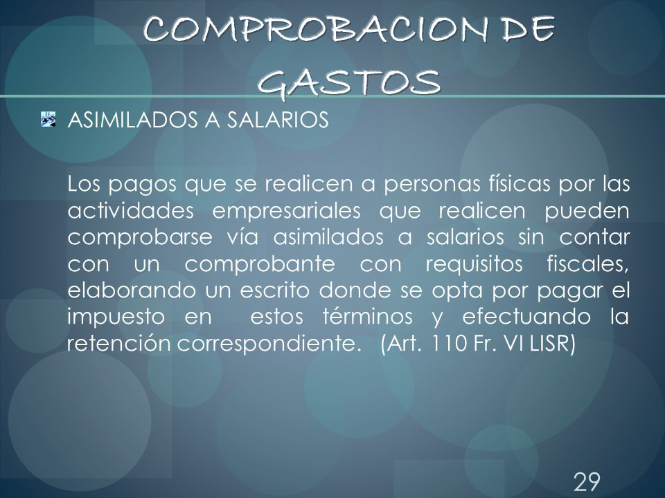COMPROBACION DE GASTOS