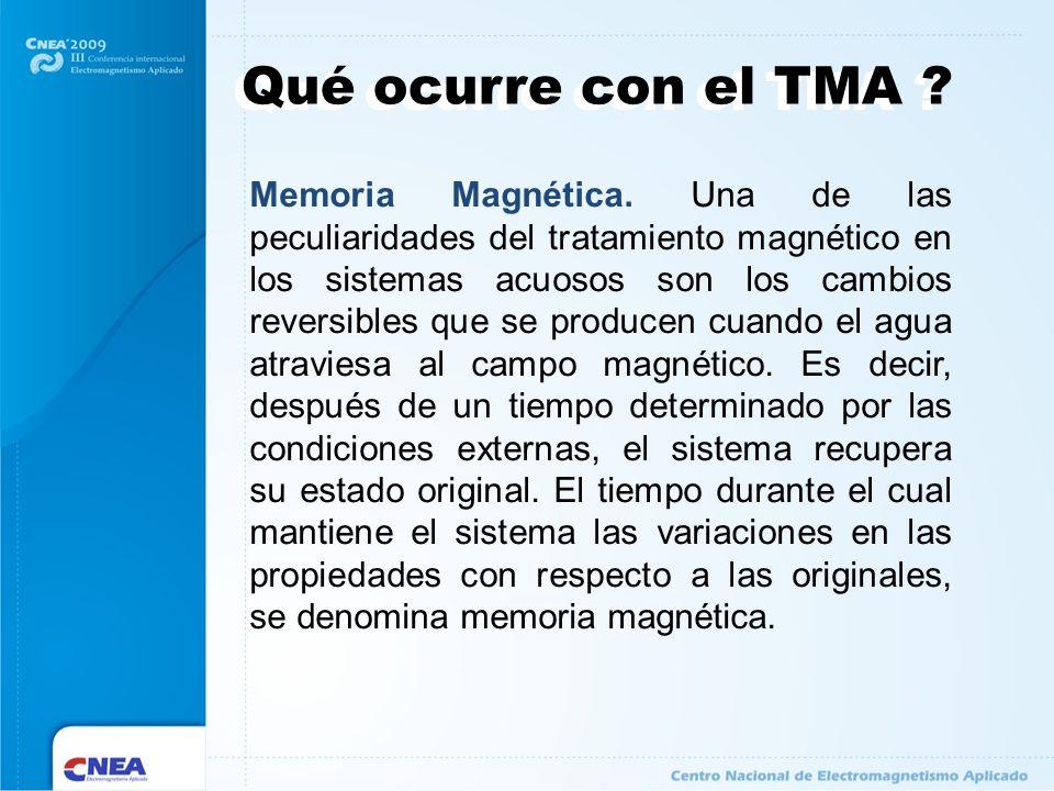 Qué ocurre con el TMA