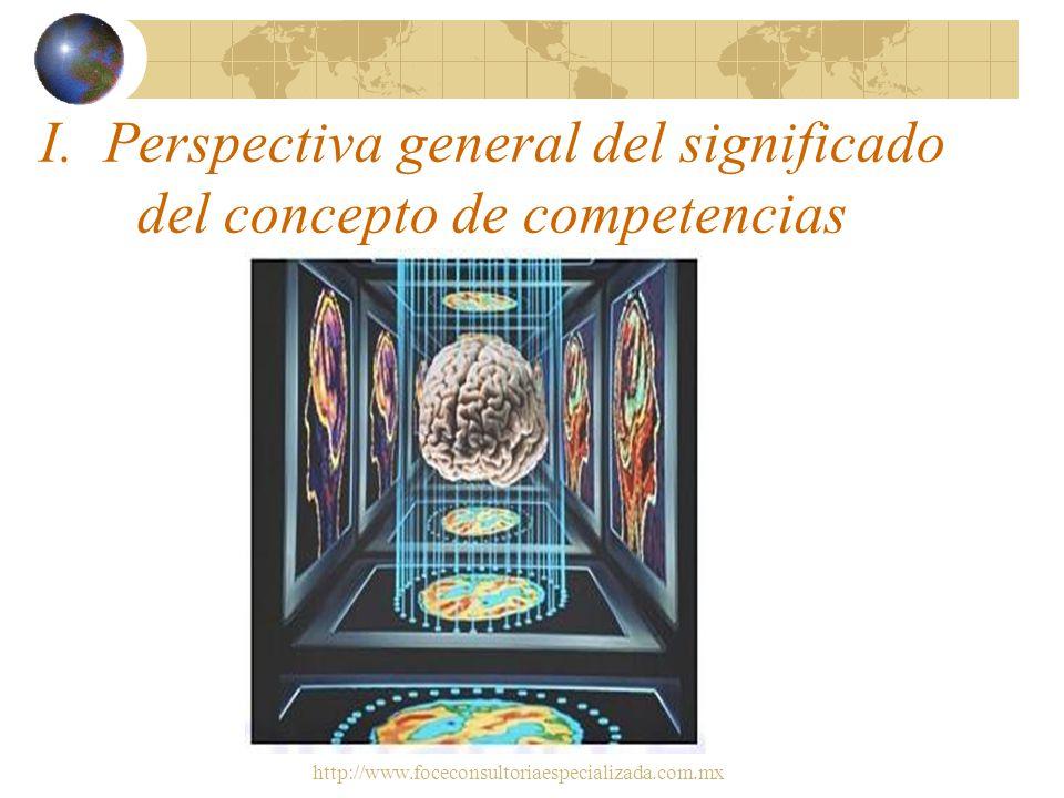 I. Perspectiva general del significado del concepto de competencias