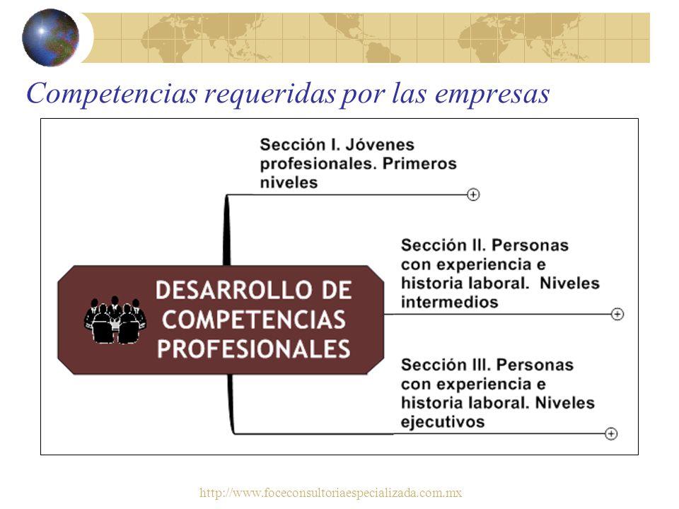 Competencias requeridas por las empresas