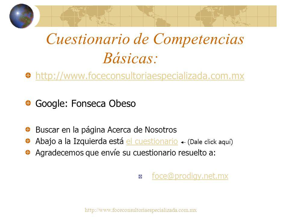 Cuestionario de Competencias Básicas:
