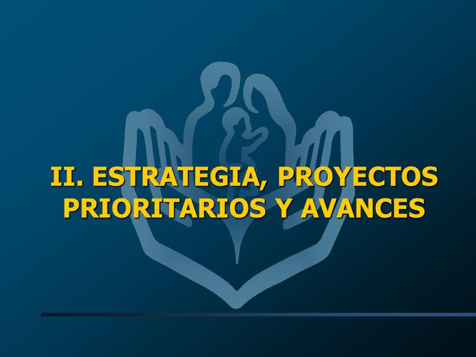 II. ESTRATEGIA, PROYECTOS PRIORITARIOS Y AVANCES