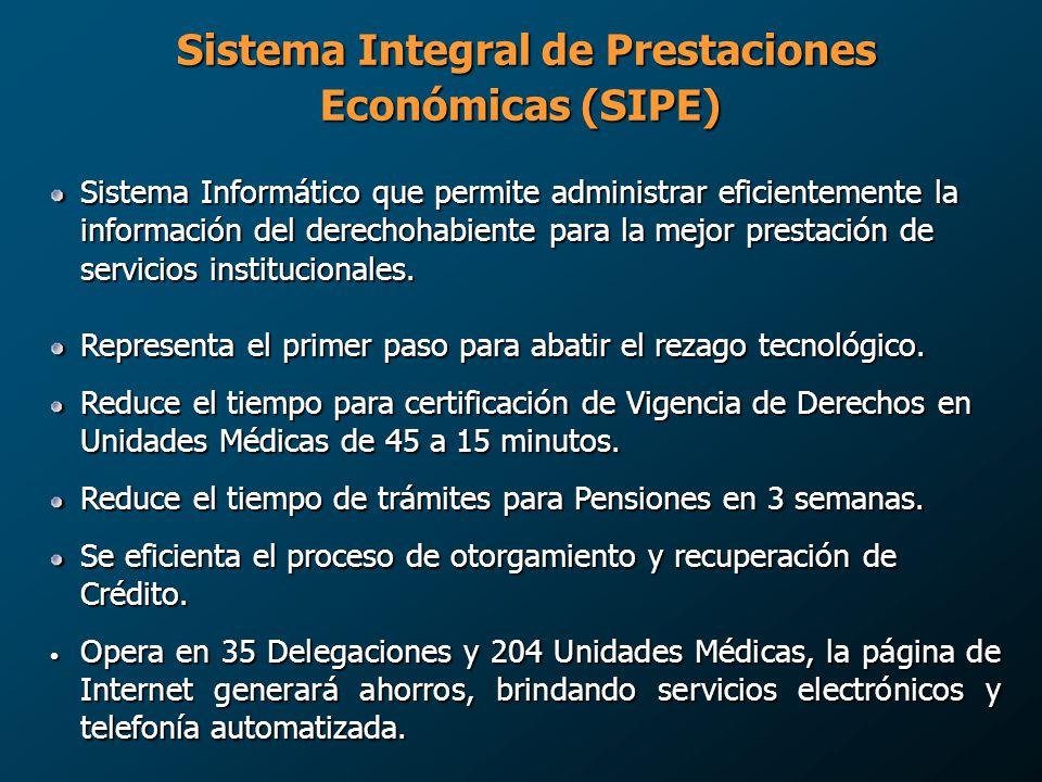 Sistema Integral de Prestaciones Económicas (SIPE)