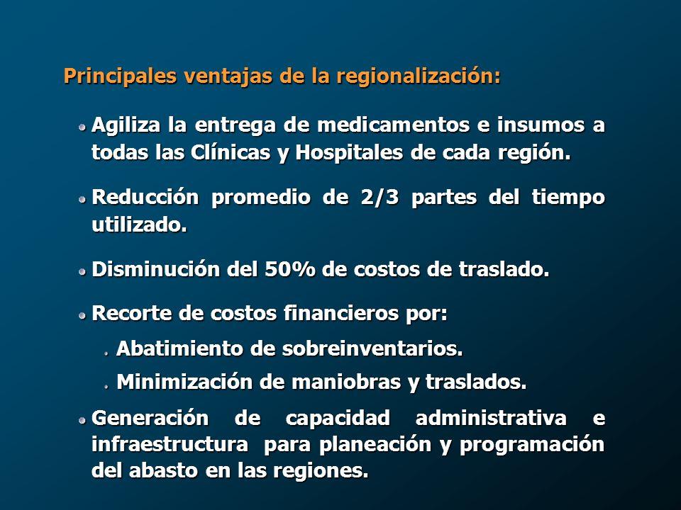 Principales ventajas de la regionalización: