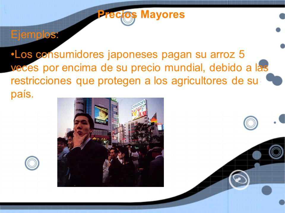 Precios Mayores Ejemplos: