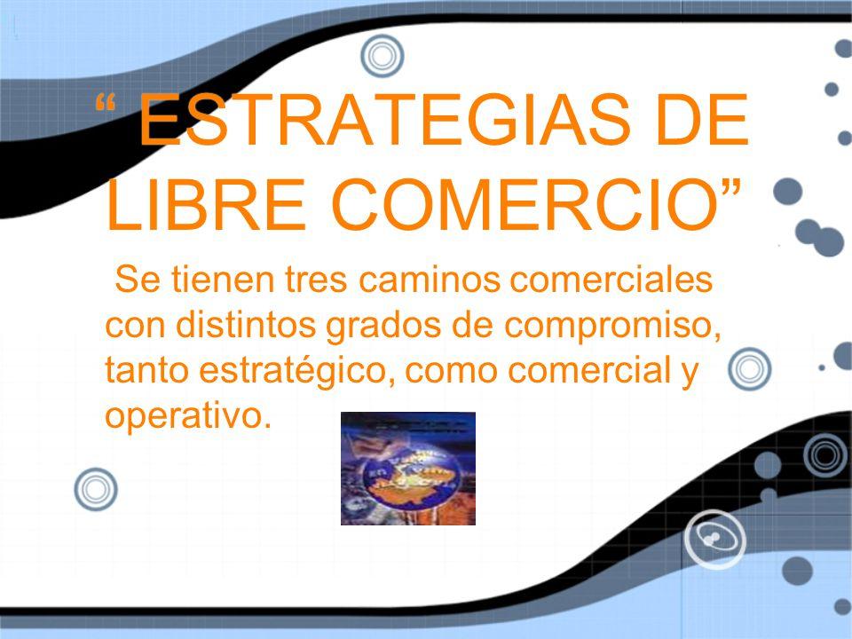 ESTRATEGIAS DE LIBRE COMERCIO