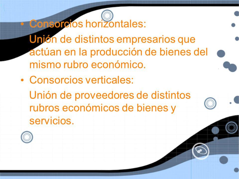 Consorcios horizontales: