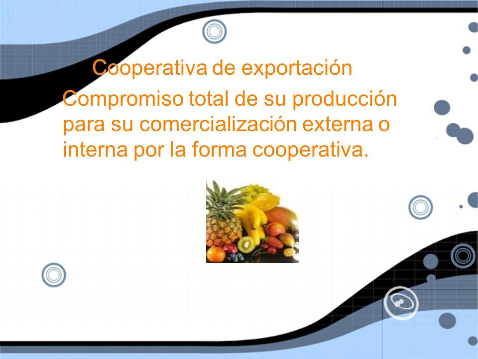 Cooperativa de exportación
