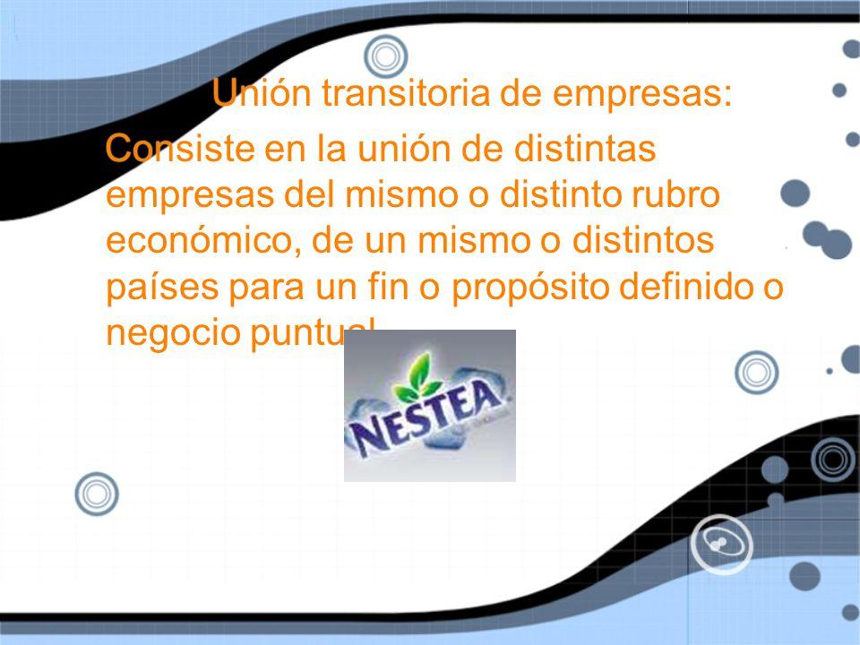 Unión transitoria de empresas: