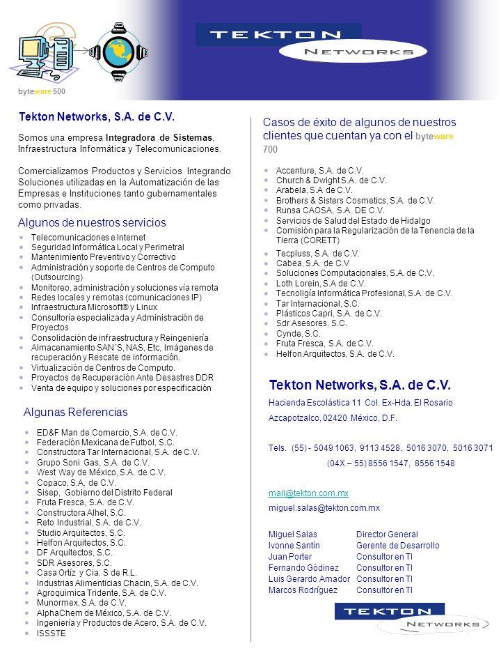 Tekton Networks, S.A. de C.V.