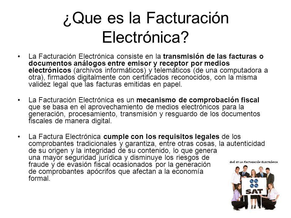¿Que es la Facturación Electrónica