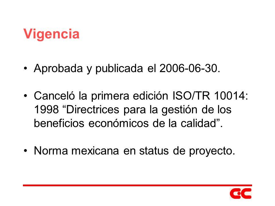 Vigencia Aprobada y publicada el 2006-06-30.