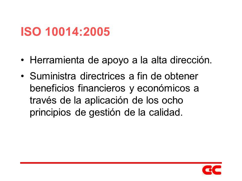 ISO 10014:2005 Herramienta de apoyo a la alta dirección.